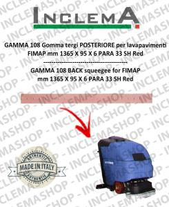 GAMMA 108 Gomma tergi POSTERIORE per lavapavimenti FIMAP