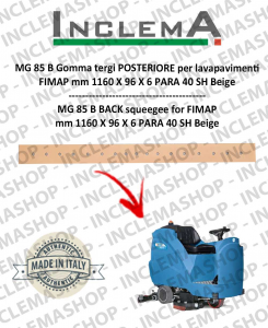 MG 85 B Gomma tergi POSTERIORE per lavapavimenti FIMAP