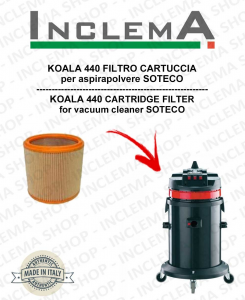 KOALA 440 FILTRO CARTUCCIA per aspirapolvere SOTECO