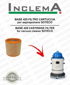 BASE 429 FILTRO CARTUCCIA per aspirapolvere SOTECO