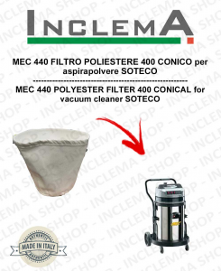 MEC 440 FILTRO POLIESTERE 440 CONICO per aspirapolvere SOTECO