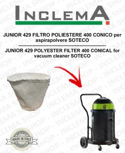 JUNIOR 429 FILTRO POLIESTERE 440 CONICO per aspirapolvere SOTECO