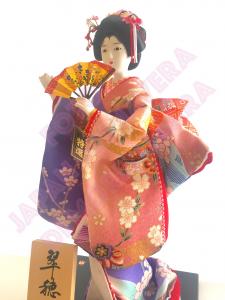 Bambola con Kimono Kinran-Katanugi Ougi