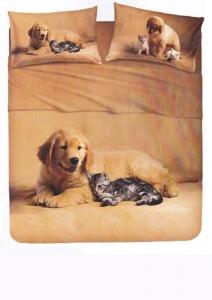 Set lenzuola piazza e mezza BASSETTI COCCOLE effetto copriletto