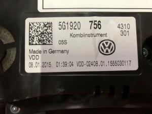 Quadro portastrumenti usato Volk Golf serie 2017> 2.0 TSI