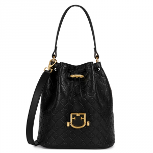Hand and shoulder bag Furla CORONA 1034008 NERO