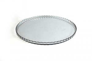 Piatto torta in vetro cm.23x23x2,3h