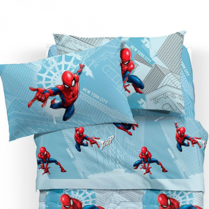 SPIDERMAN Manhattan LENZUOLA letto singolo MARVEL CALEFFI