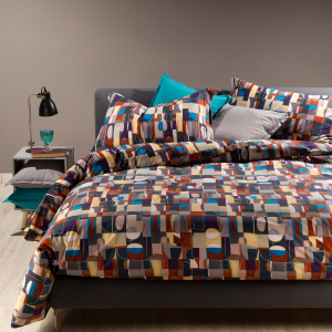 Double duvet cover set 2 squares CALEFFI TECHNO digital printing