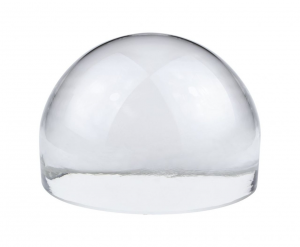 Fermacarte mezza sfera in vetro cm.8x8x5,5h