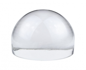 Fermacarte mezza sfera in vetro cm.10x10x7h
