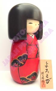 Bambola Kokeshi - Gioia (Yorokobi)