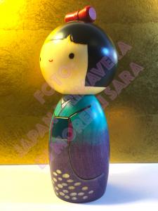 Bambola Kokeshi - Ajisay (Orchidea della Montagna)