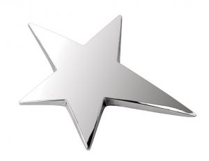 Trofeo stella in metallo cm.8x6x0,7h