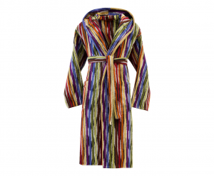 Missoni Home Bathrobe with hood multicolor striped JEFF 156 - M