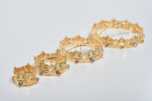 Minicorona Reale Ø 7 in ottone dorato 24k