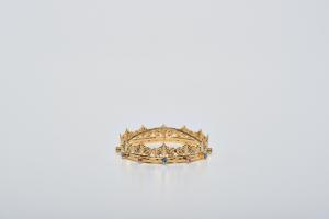 Minicorona Reale Ø 10 in ottone dorato 24k