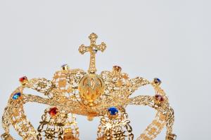 Corona Imperiale Ø 15 in ottone dorato 24k