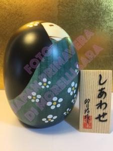 Bambola Kokeshi - Felicità verde (S)