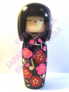 Bambola Kokeshi - Decorazione dei Fiori