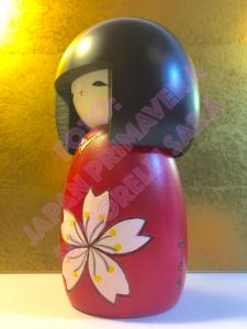 Bambola Kokeshi - Fiori di Ciliegio (Sakura) (S)