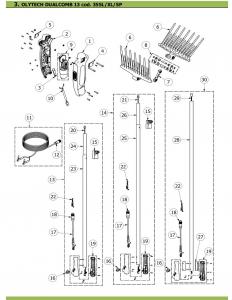 Ricambi per Olytech Dualcomb 355L / 255L