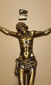 Corpo cm. 45 resina finitura bronzata