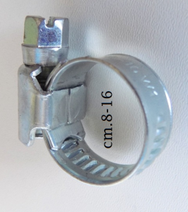 Fascetta banda acciaio dalla cm.8-12 alla cm.60-80