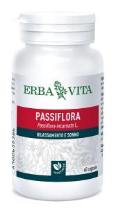 PASSIFLORA - INTEGRATORE PER FAVORIRE IL RILASSAMENTO E SONNO 60 CAPSULE ERBAVITA