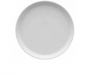 Piatto piano porcellana bianca cm.2,5h diam.28