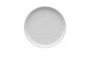 Piatto frutta porcellana bianca cm.2h diam.22