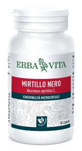 MIRTILLO NERO - INTEGRATORE ANTIOSSIDANTE E BENESSERE VISTA ERBAVITA 60 CAPSULE