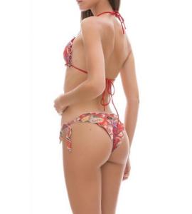 Bikini triangolo e slip nodi Multiflower Changit Taglia M