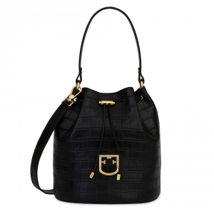 Hand and shoulder bag Furla CORONA 1033151 NERO