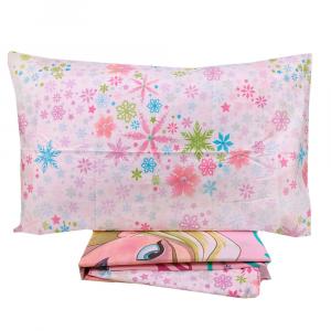 Completo lenzuola letto singolo 1 piazza Disney FROZEN rosa