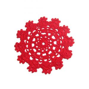 Set SOTTOBICCHIERI rossi per Natale all'uncinetto