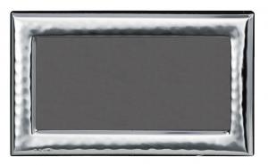 Cornice portafoto orizzontale in argento stile Martellata retro in legno cm.14,5x8,5h