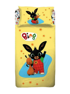 BING BUNNY Single cotton bed sheet set with children's print