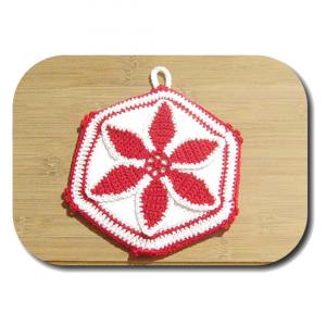 PRESINA bianca e rossa per Natale all'uncinetto