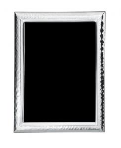 Cornice portafoto in argento stile Martellata retro in legno cm.13,5x18,5h