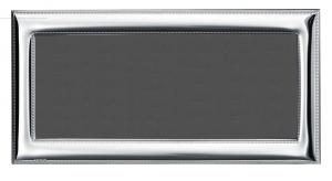 Cornice portafoto orizzonatale panoramica in argento stile Perles cm.30x14h