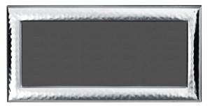 Cornice portafoto orizzonatale panoramica in argento stile Martellata cm.30x14h