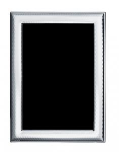 Cornice portafoto in argento fascia larga stile Martellata cm.27,5x33,5h