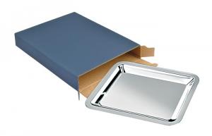 Vassoio rettangolare in silver plated