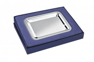 Vassoio rettangolare in silver plated stile Cardinale