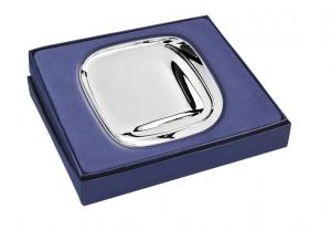 Piattino quadrato silver plated