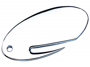 Apribusta ovale placcato argento