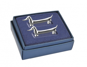Appoggia posate silver plated cagnolino set 2 pz
