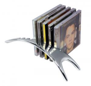 Porta 9 cd style con lux box in silver plated cm.28x7,5x5,5h