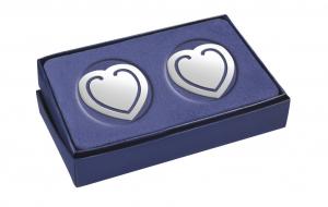 Segnalibro Cuore argento silver plated set 2 pezzi